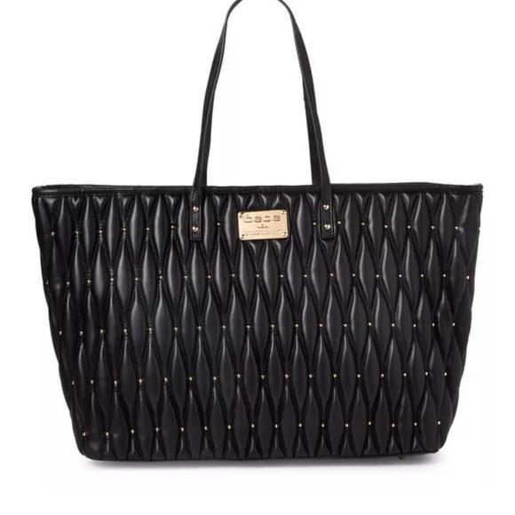 bc0d29fb59 bebe Bags | Quilted Diamanda Large Tote Black | Poshmark